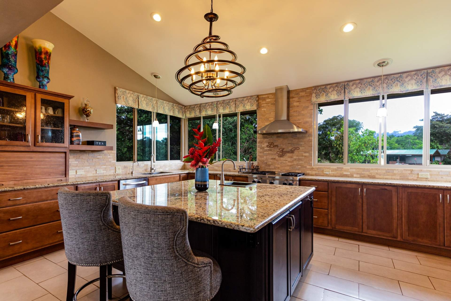 This is an image of a classic kitchen design.