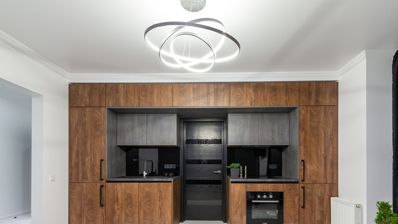 This is an image of a kitchen lighting.